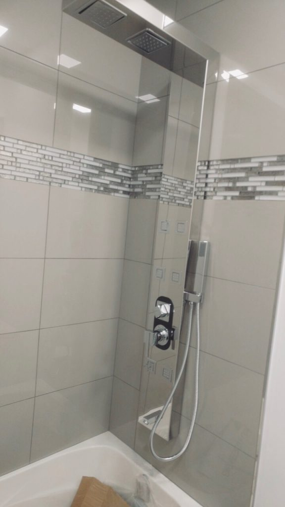 bathroom tower installation